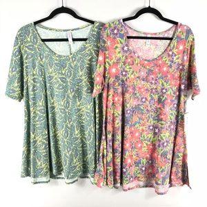 LuLaRoe Perfect T Shirt Women's XL Lot of 2
